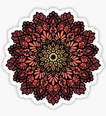 Fiery mandala  Sticker