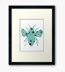 Floral Print Bumble Bee Framed Print