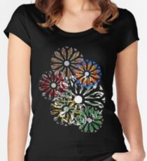 Rondel on Black Women's Fitted Scoop T-Shirt