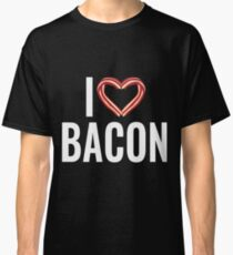 Funny I Love Bacon - Bacon Rasher Heart  Classic T-Shirt