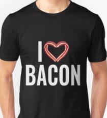 Funny I Love Bacon - Bacon Rasher Heart  T-Shirt