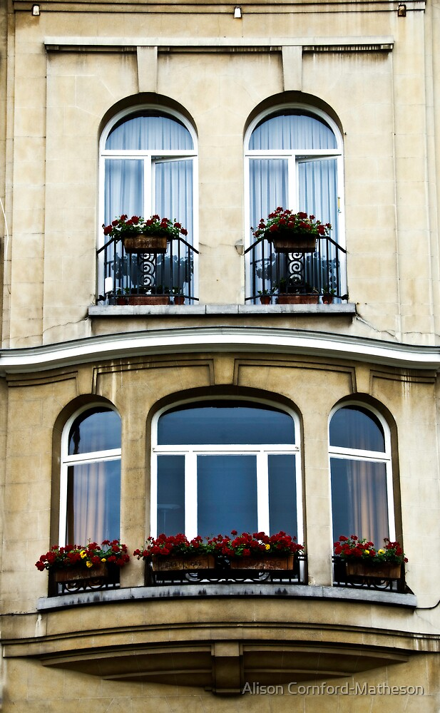 Windows in Brussels by Alison Cornford-Matheson