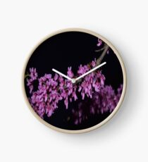 Tree with Flower Blossoms Clock