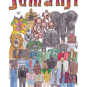 Jumanji Team Illustration  by defuma