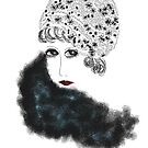 Art Deco Lady with Cloche Hat by Trish Loader