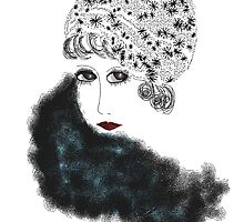 Art Deco Lady in Cloche Hat by Trish Loader