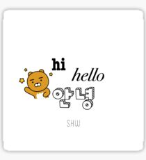SHOWNU - Hi Hello Annyeong Sticker