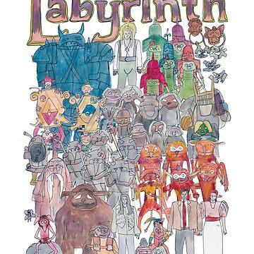 Labyrinth Team Illustration  by defuma