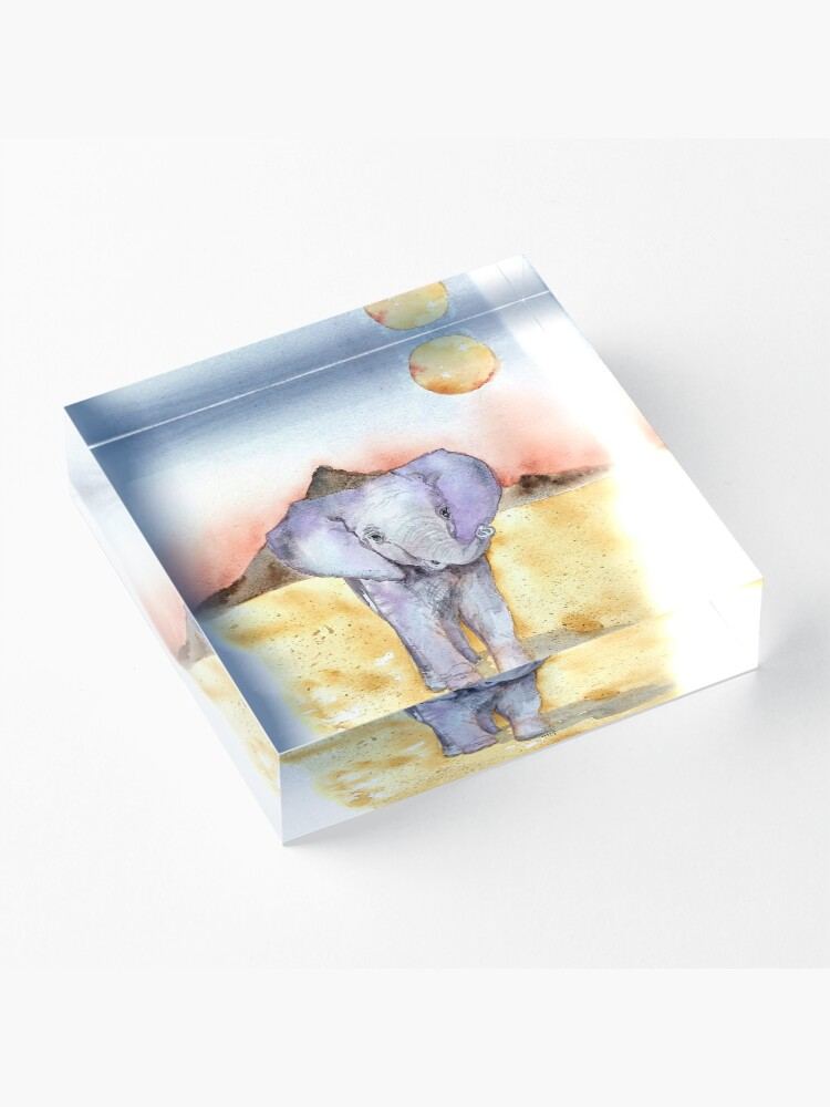 Alternate view of Elephant Walk Acrylic Block