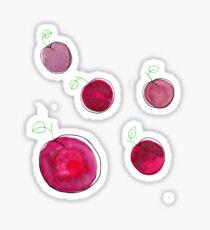 plums Sticker