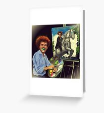 Steve Brule paints Greeting Card