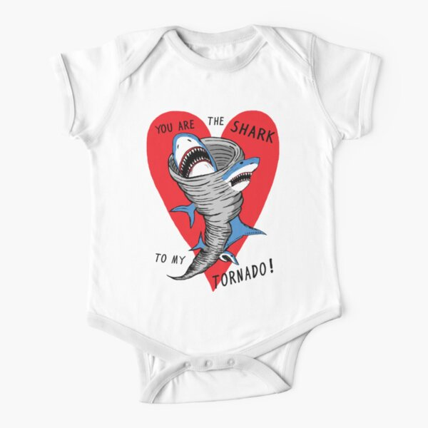 Shark To My Tornado Short Sleeve Baby One-Piece