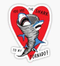 Shark To My Tornado Sticker
