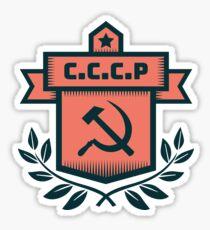 Hammer & Sickle CCCP Badge Sticker