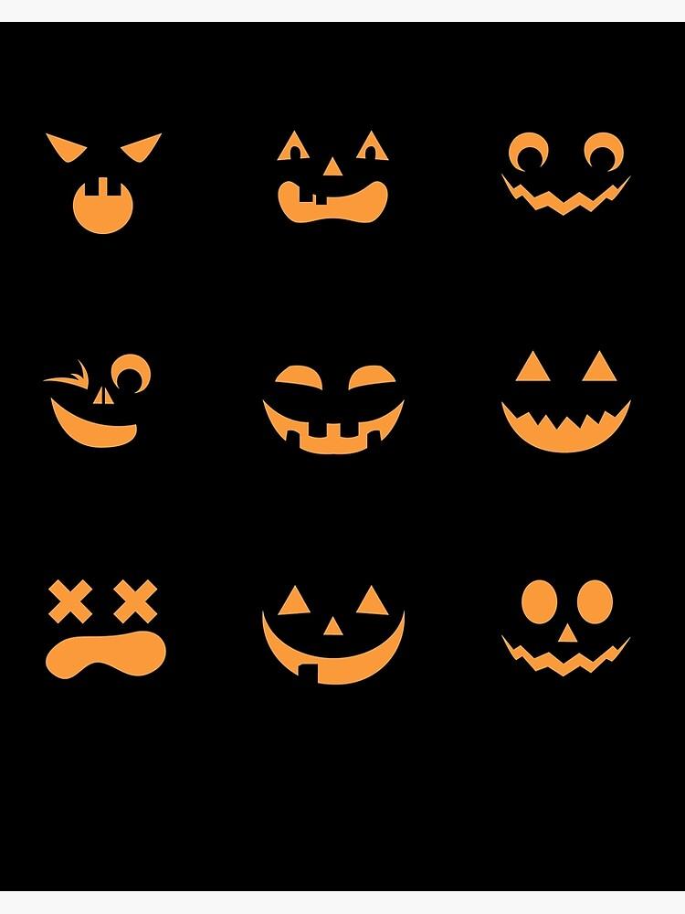 Happy Halloween Pumpkin Face Jack O Lantern Emoji Art Board Print By Entrfacts Redbubble