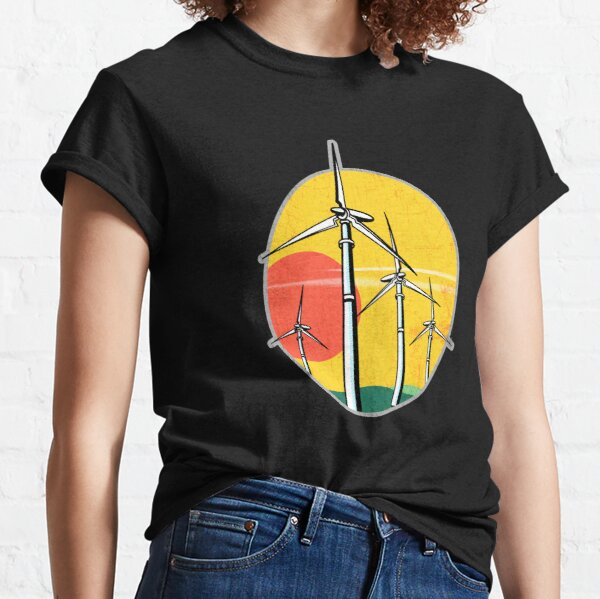 Wind Power at Sunset Classic T-Shirt