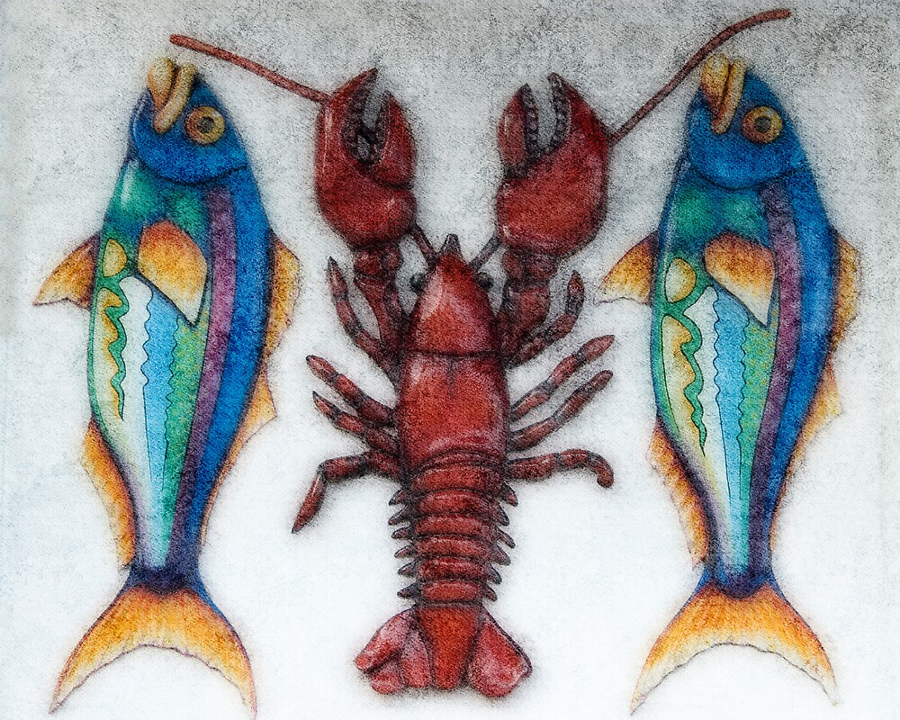 Fish and Crab by Michael  Dreese