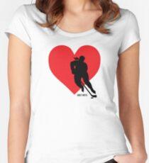 Women's Hockey Love Hockey Heart Women's Fitted Scoop T-Shirt