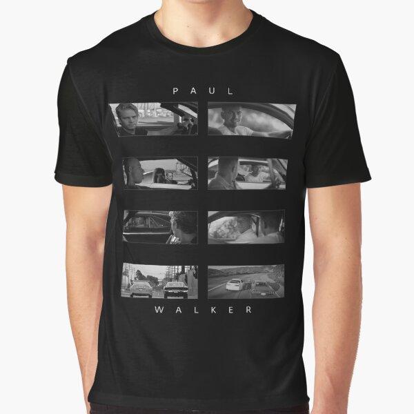 N//N Paul Walker Tribute t-Shirt R.I.P Acteur Fast and Furious Films Racer