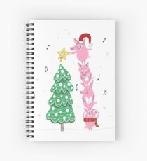 Stack of Pigs - Christmas  Spiral Notebook