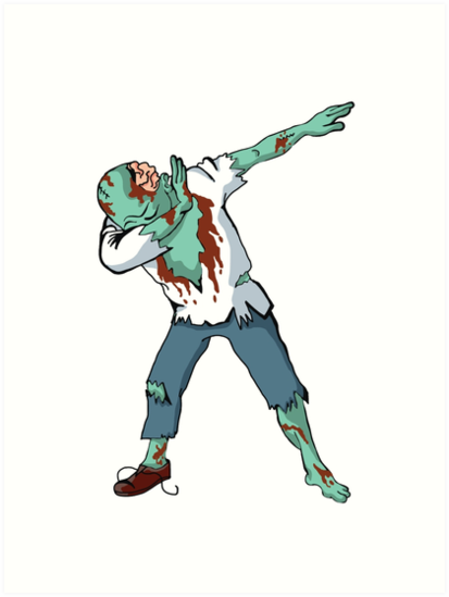 Halloween Dabbing Zombie Funny Dab Hip Hop Pose By Awesome Tee Designs