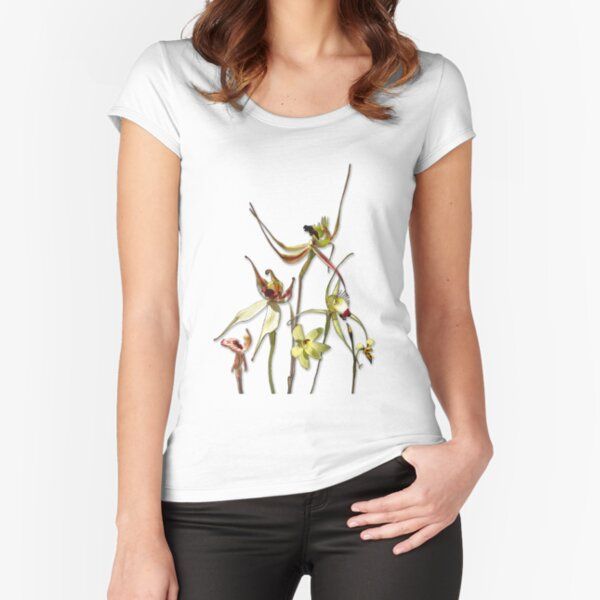Orchids of Australia 4 Fitted Scoop T-Shirt
