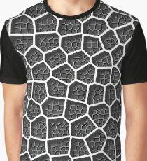 Voronoi Diagram - Layered Grey Graphic T-Shirt