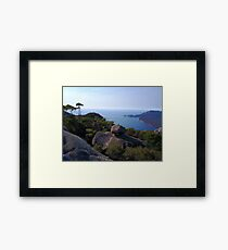 Tasmanian ocean look out Framed Print