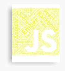 Original JavaScript Framework Programming Design Canvas Print