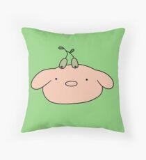 Olive Piggy Face Throw Pillow