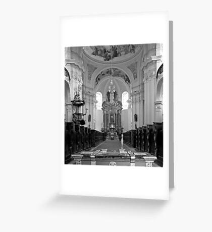 Virgin Mary Visitation Church, Hejnice, Czech Republic Greeting Card
