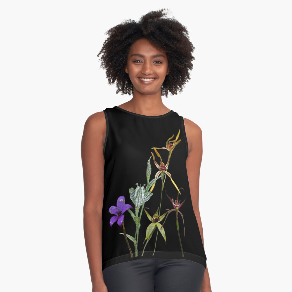 Orchids of Australia 6 Native orchids of Western Australia Sleeveless Top