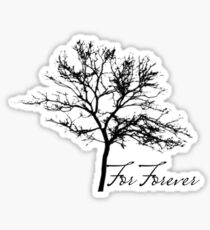For Forever Tree Design Sticker
