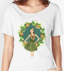 Hula Pineapple Wreath Women's Relaxed Fit T-Shirt