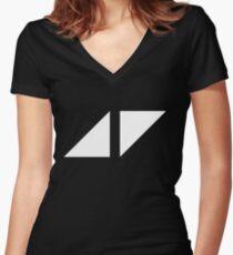 avicii music Women's Fitted V-Neck T-Shirt