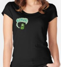 Pickle Rick Pocket Pal Women's Fitted Scoop T-Shirt