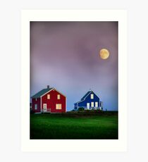 End of day in colors Art Print