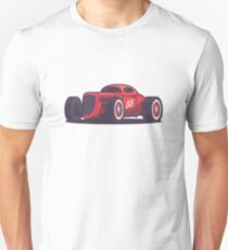Vintage Hot Rod Classic Street Racer - Red Unisex T-Shirt