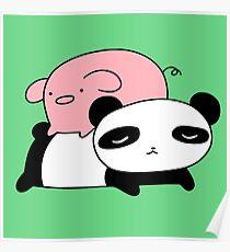 Póster Little Piggy y Panda