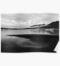 Skaftafell Glacier Lake - Black & White Poster