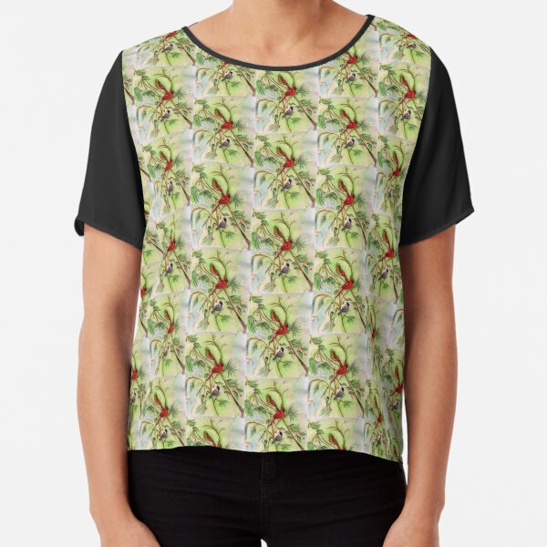 Birds of a Feather Chiffon Top