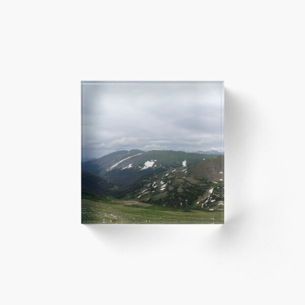 Mountain Panoramic Acrylic Block
