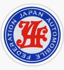 JAF Automobile Federation DECAL Sticker