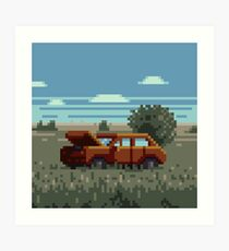 Native Grasslands: 3 Art Print