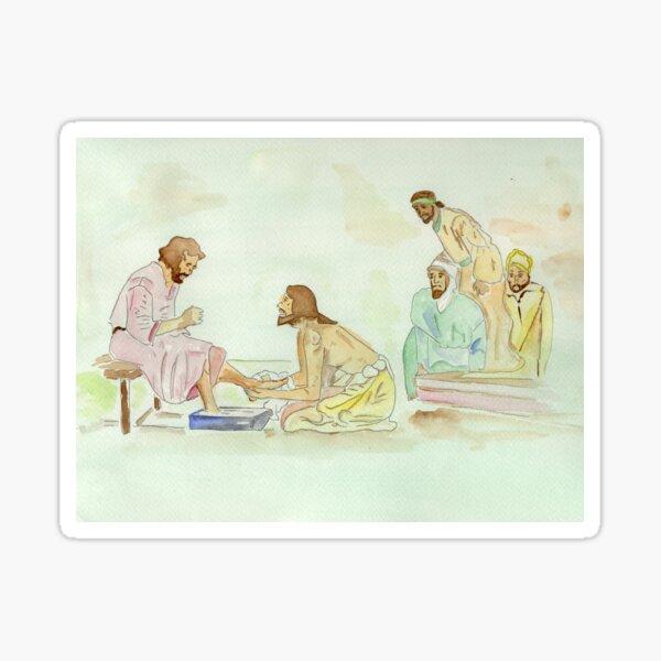 Jesus Washes the Apostles Feet Sticker
