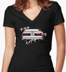 Rotary Music – Mazda RX7 FC3S Inspired  Fitted V-Neck T-Shirt