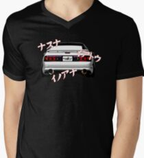 Rotary Music – Mazda RX7 FC3S Inspired  V-Neck T-Shirt