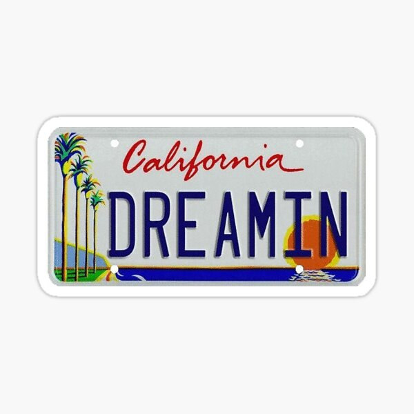 california dreamin Sticker