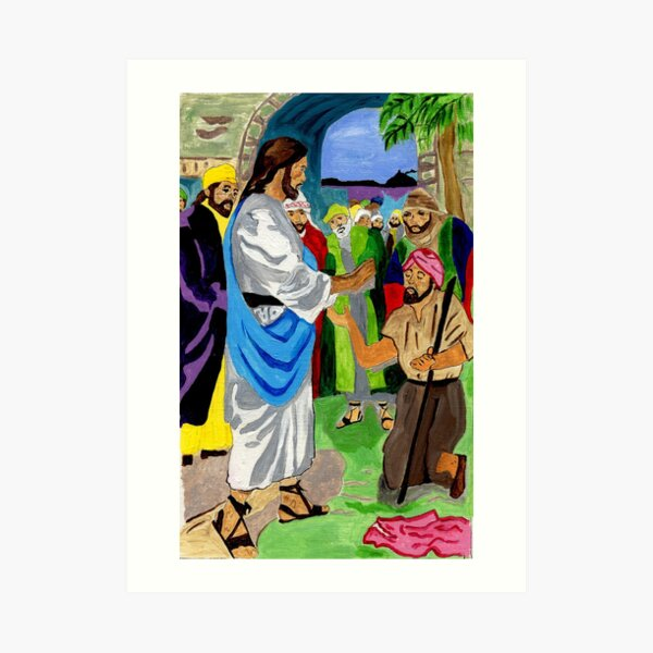 Bartimaeus Was Healed By the Holy Man Art Print