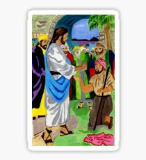 Bartimaeus Was Healed By the Holy Man Sticker